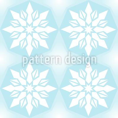 Eiskristall Geometrie Rapportiertes Design