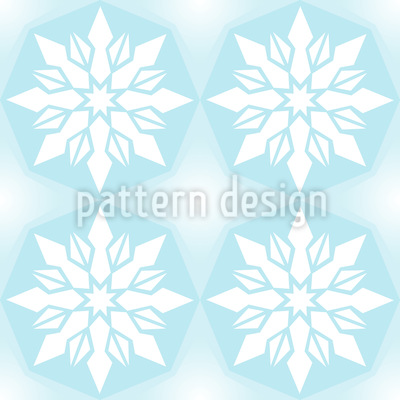 Ice Crystal Geometry Repeating Pattern