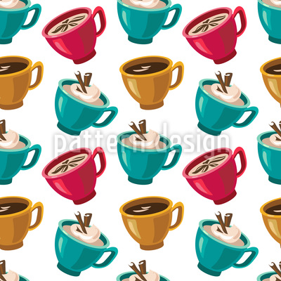 Tasse Kaffee Designmuster