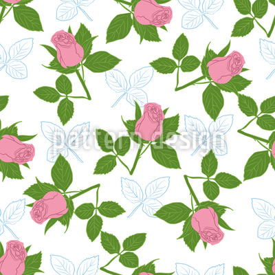 It Is Raining Roses Seamless Pattern