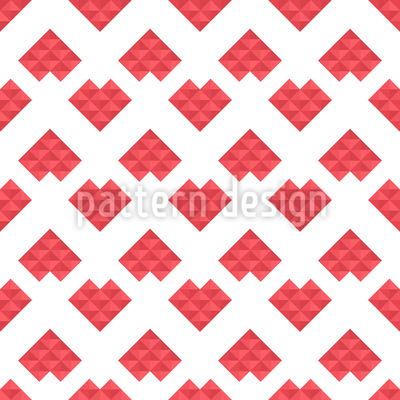 Love Is Just A Game Seamless Vector Pattern