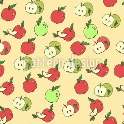 Wähle Einen Apfel Rapportiertes Design