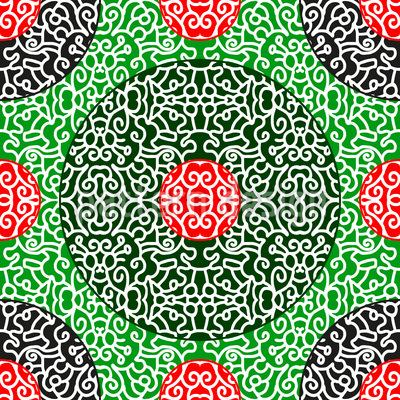 Asian Dots Repeat Pattern