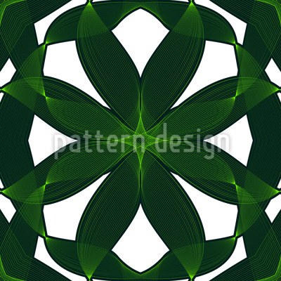 Exotic Leaf Weave Repeat