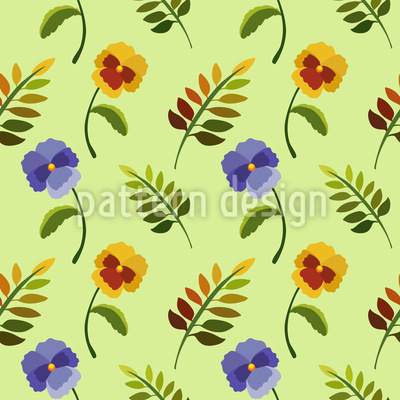 Heartsease In Spring Pattern Design