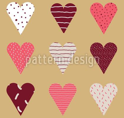 Valentins Herzen Musterdesign
