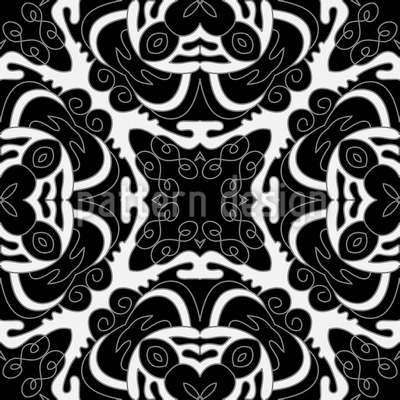 Silhouette Of Nostalgy Pattern Design