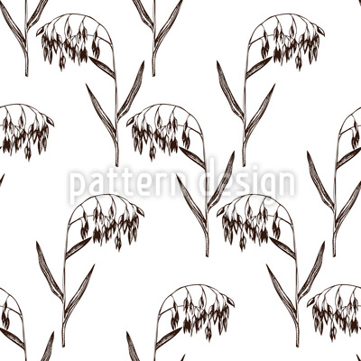 Vintage Oats Vector Pattern