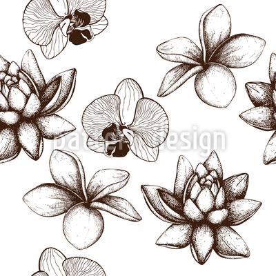 Vintage Exotische Pflanzen Vektor Design