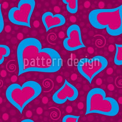 Verrückte Herzen Muster Design