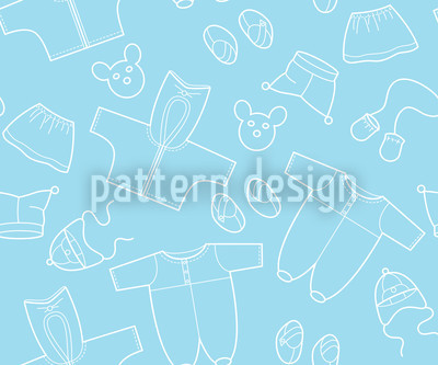 Babysachen Blau Vektor Design