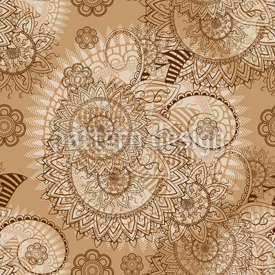 Indische Spitze Vektor Ornament