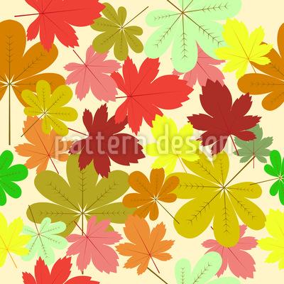 Teppich Aus Blättern Nahtloses Vektor Muster