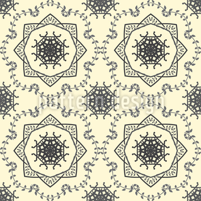 Circle Tendrillars Vector Pattern