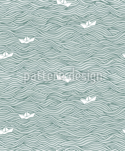 Little Paper Boats Pattern Design