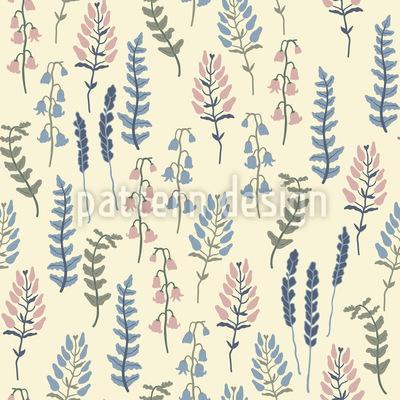 Elfenbein Garten Muster Design