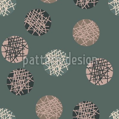 Scratched Circles Vector Ornament