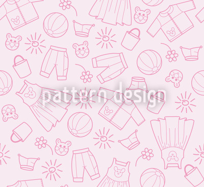 Childrens World Rose Pattern Design