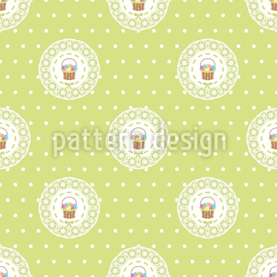 Easter Baskets Vector Pattern