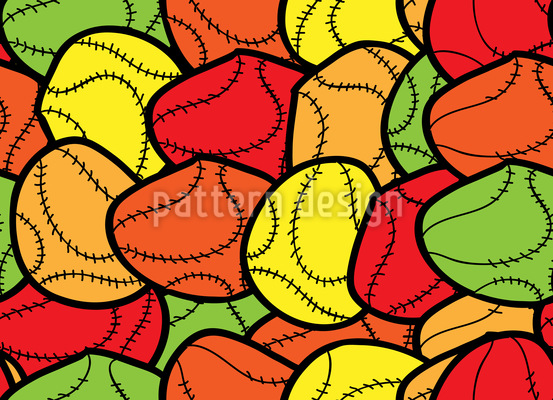 Crazy For Baseball Repeating Pattern