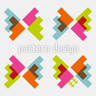 Techno Butterflies Pattern Design