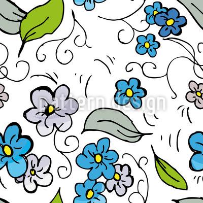 Blumen auf der Wiese Musterdesign
