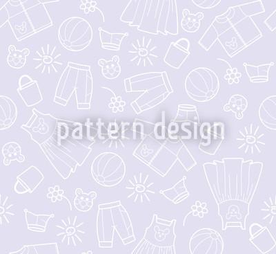 Welt der Kinder Violett Designmuster