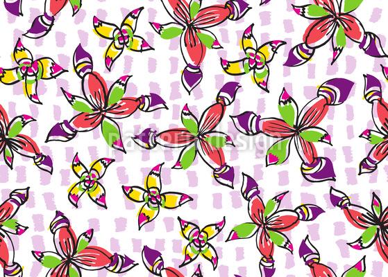 Peppige Blumen Rapportiertes Design
