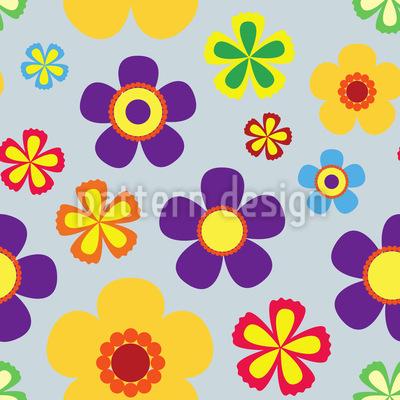 Flower Power Im Frühjahr Muster Design