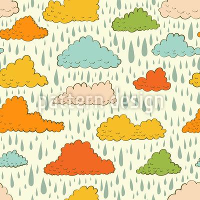 Wolken und Regen Rapportmuster