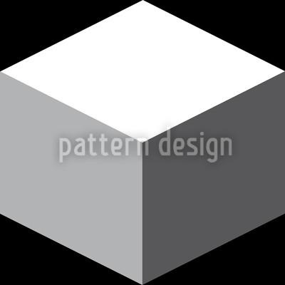 Würfel Auf Schwarz Nahtloses Vektor Muster
