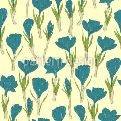 Krokus Blüten Musterdesign