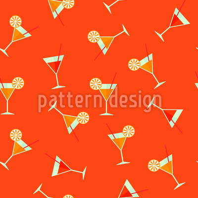 Fancy Cocktails Seamless Vector Pattern