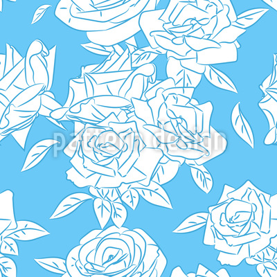 Cool Rose Repeating Pattern