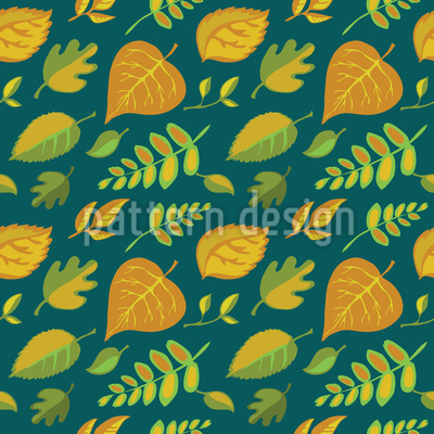 Stylized Leaves Vector Pattern