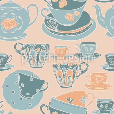 Zeit für Tee Rapportmuster
