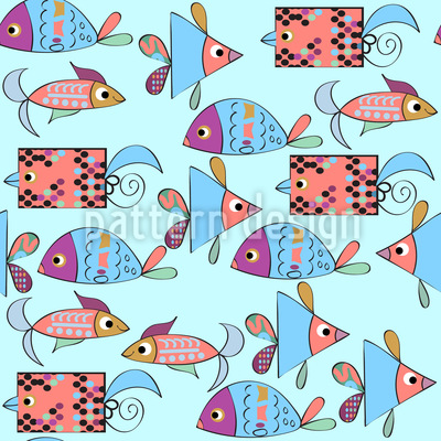 Fantasie Fische Musterdesign