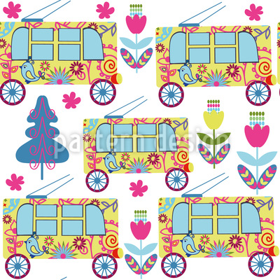Cute bus Vector Ornament
