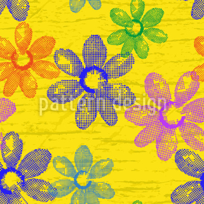Frische Frühlingsblumen Vektor Ornament