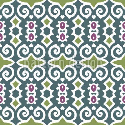 Shy Beauty Seamless Pattern
