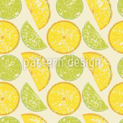 Zitrone Oder Limette Musterdesign