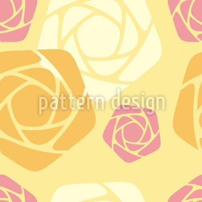 Geometrische Rosen Nahtloses Muster