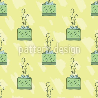 Succulent Power Vector Pattern
