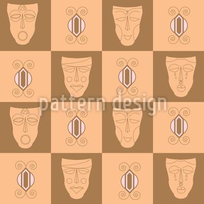 Afrikanische Masken Vektor Design
