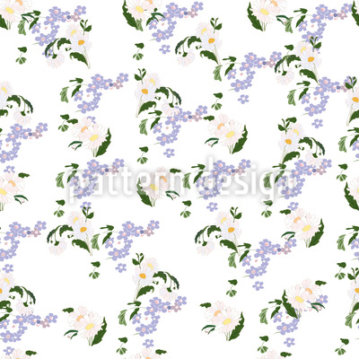 Forget Me Not Daisy Pattern Design
