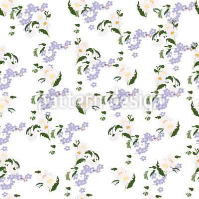 Vergissmeinicht Und Gänseblümchen Musterdesign