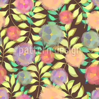 Zarte Blumen Auf Zweigen Designmuster