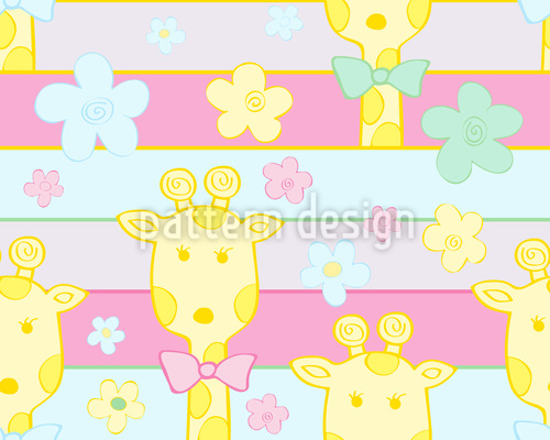 Baby Giraffes Seamless Vector Pattern