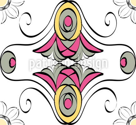 Stilblüten Vektor Ornament