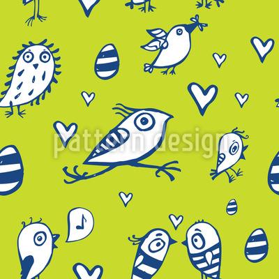 Ostervögel Vektor Muster